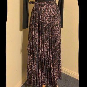 LuLaRoe Deanne Pleated Maxi Skirt - Animal Print